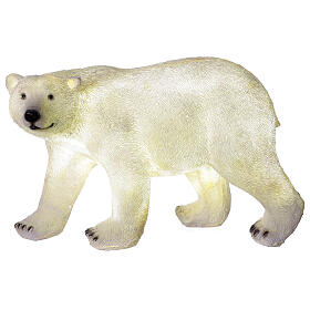 Orso polare led bianco luce Natale 35x55x30 cm s5