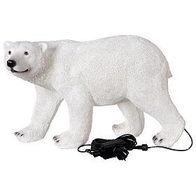 Orso polare led bianco luce Natale 35x55x30 cm s6