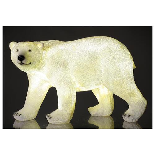 Orso polare led bianco luce Natale 35x55x30 cm 1
