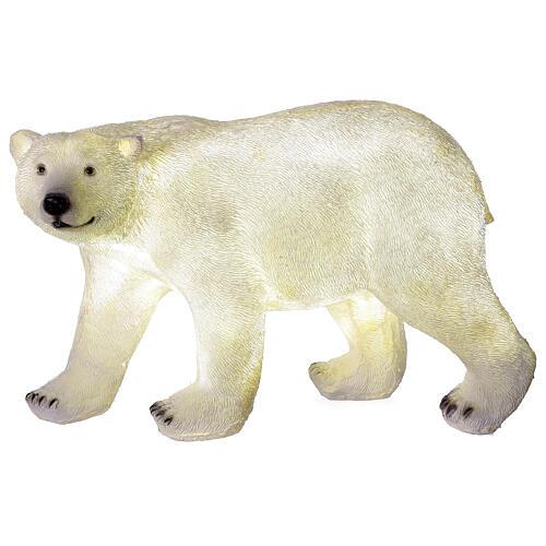 Orso polare led bianco luce Natale 35x55x30 cm 5