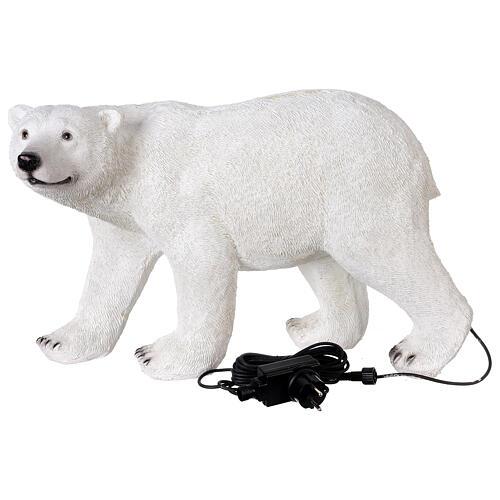 Orso polare led bianco luce Natale 35x55x30 cm 6