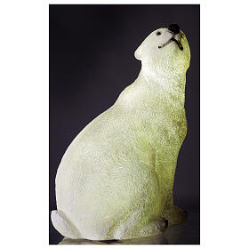 LED polar bear sitting Christmas decoration white OUTDOOR 50x40x30 cm s3