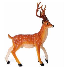 Cerf lumineux pour extérieur LED dorés 105x85x65 cm s3