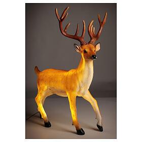 LED deer Christmas decoration outdoor golden 105x85x65 cm s5