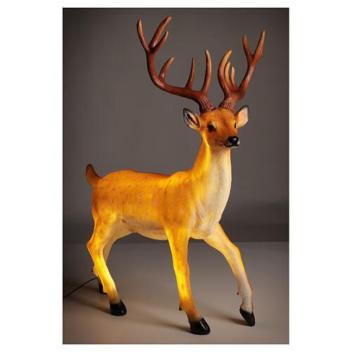 LED deer Christmas decoration outdoor golden 105x85x65 cm 5