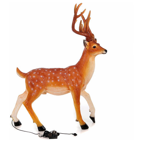 LED deer Christmas decoration outdoor golden 105x85x65 cm 6