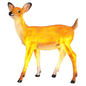 LED fawn standing Christmas decoration for outdoors 70x60x30 cm s2