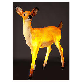 LED fawn standing Christmas decoration for outdoors 70x60x30 cm s3