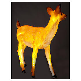 LED fawn standing Christmas decoration for outdoors 70x60x30 cm s5