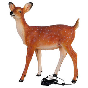 LED fawn standing Christmas decoration for outdoors 70x60x30 cm s6