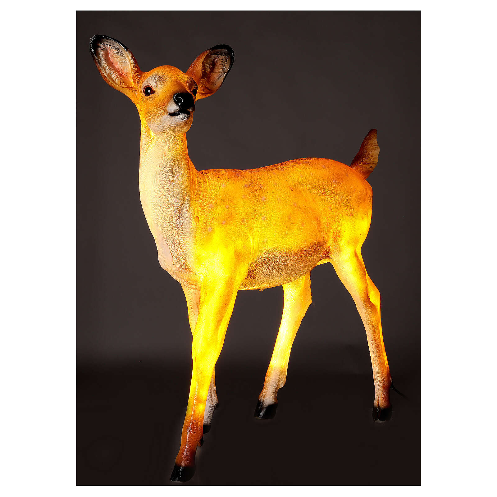 LED fawn standing Christmas decoration for outdoors 70x60x30 cm 3