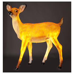 LED fawn standing Christmas decoration for outdoors 70x60x30 cm s1