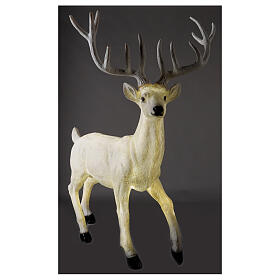 Lighted Deer Christmas decoration white for outdoors 105x85x65 cm s4