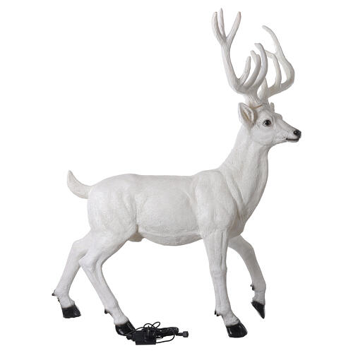 Lighted Deer Christmas decoration white for outdoors 105x85x65 cm 8