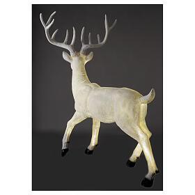 Luminaire Noël cerf LED blanc pour extérieur 105x85x65 cm s7