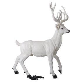 Luminaire Noël cerf LED blanc pour extérieur 105x85x65 cm s8