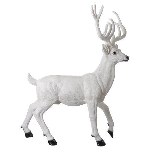 Luminaire Noël cerf LED blanc pour extérieur 105x85x65 cm 5
