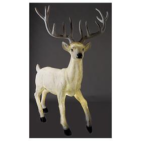 Luce Natale cervo LED bianco per esterni 105x85x65 cm s4