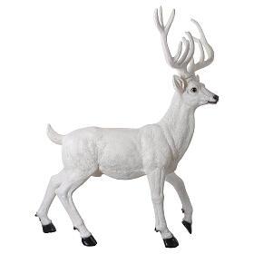 Luce Natale cervo LED bianco per esterni 105x85x65 cm s5