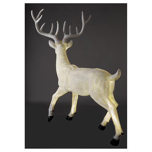 Luce Natale cervo LED bianco per esterni 105x85x65 cm 7