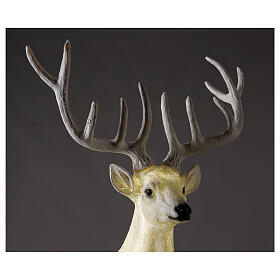 Lighted Deer Christmas decoration white for outdoors 105x85x65 cm s2