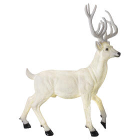 Lighted Deer Christmas decoration white for outdoors 105x85x65 cm s3