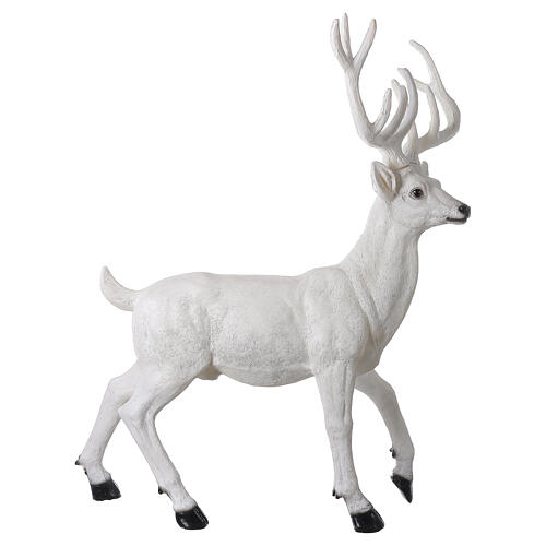 Lighted Deer Christmas decoration white for outdoors 105x85x65 cm 5