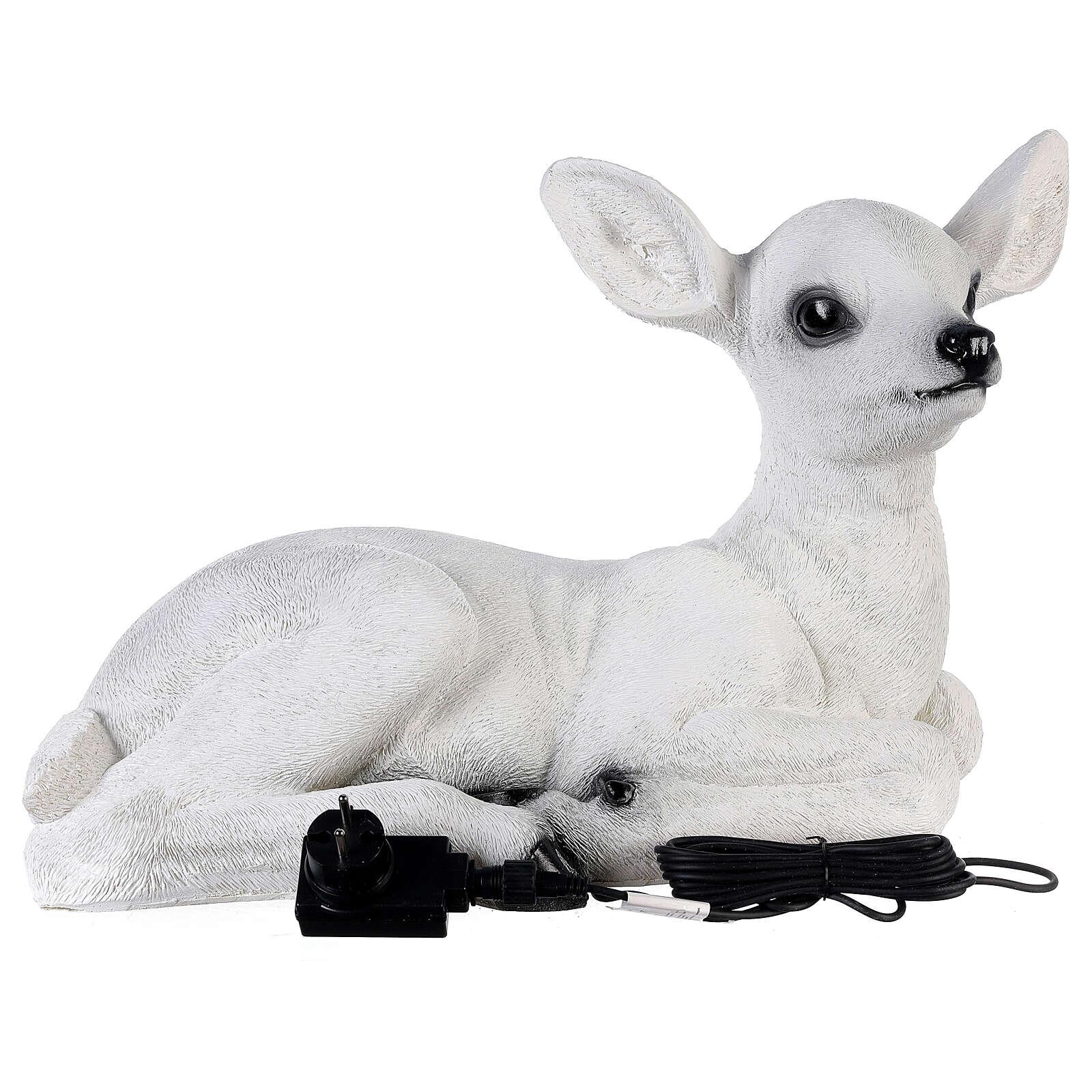 Luce natalizia cerbiatto seduto LED bianco 35x50x25 cm 3