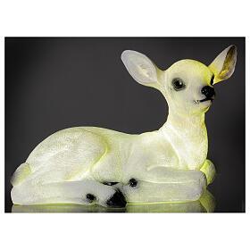 Luce natalizia cerbiatto seduto LED bianco 35x50x25 cm s1