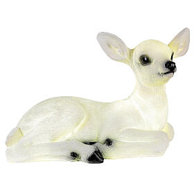 Luce natalizia cerbiatto seduto LED bianco 35x50x25 cm s3