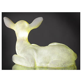 Luce natalizia cerbiatto seduto LED bianco 35x50x25 cm s6