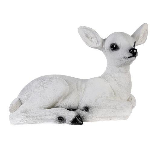 Luce natalizia cerbiatto seduto LED bianco 35x50x25 cm 5