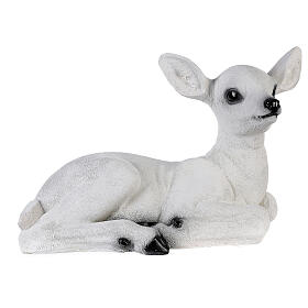 Christmas laying baby deer LED white 35x50x25 cm s5