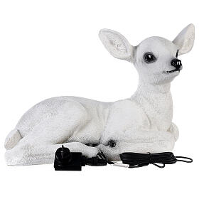 Christmas laying baby deer LED white 35x50x25 cm s7