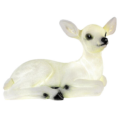 Christmas laying baby deer LED white 35x50x25 cm 3