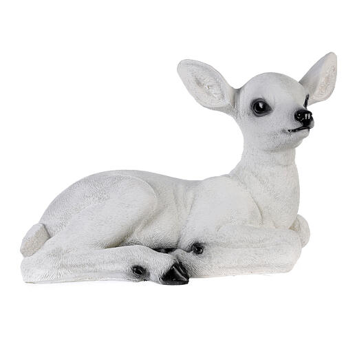 Christmas laying baby deer LED white 35x50x25 cm 5
