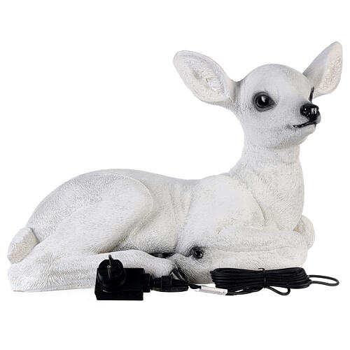 Christmas laying baby deer LED white 35x50x25 cm 7