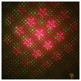 STOCK Proiettore laser cuori rosso verde per interni s1