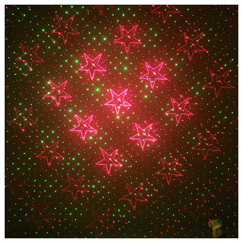 STOCK Laser light projector red and green hearts indoor 1