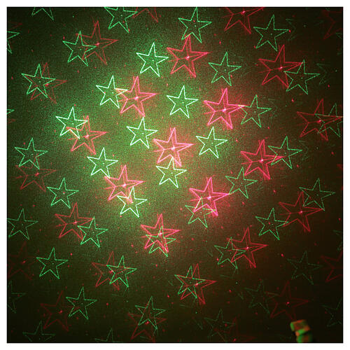 STOCK Laser light projector red and green hearts indoor 5