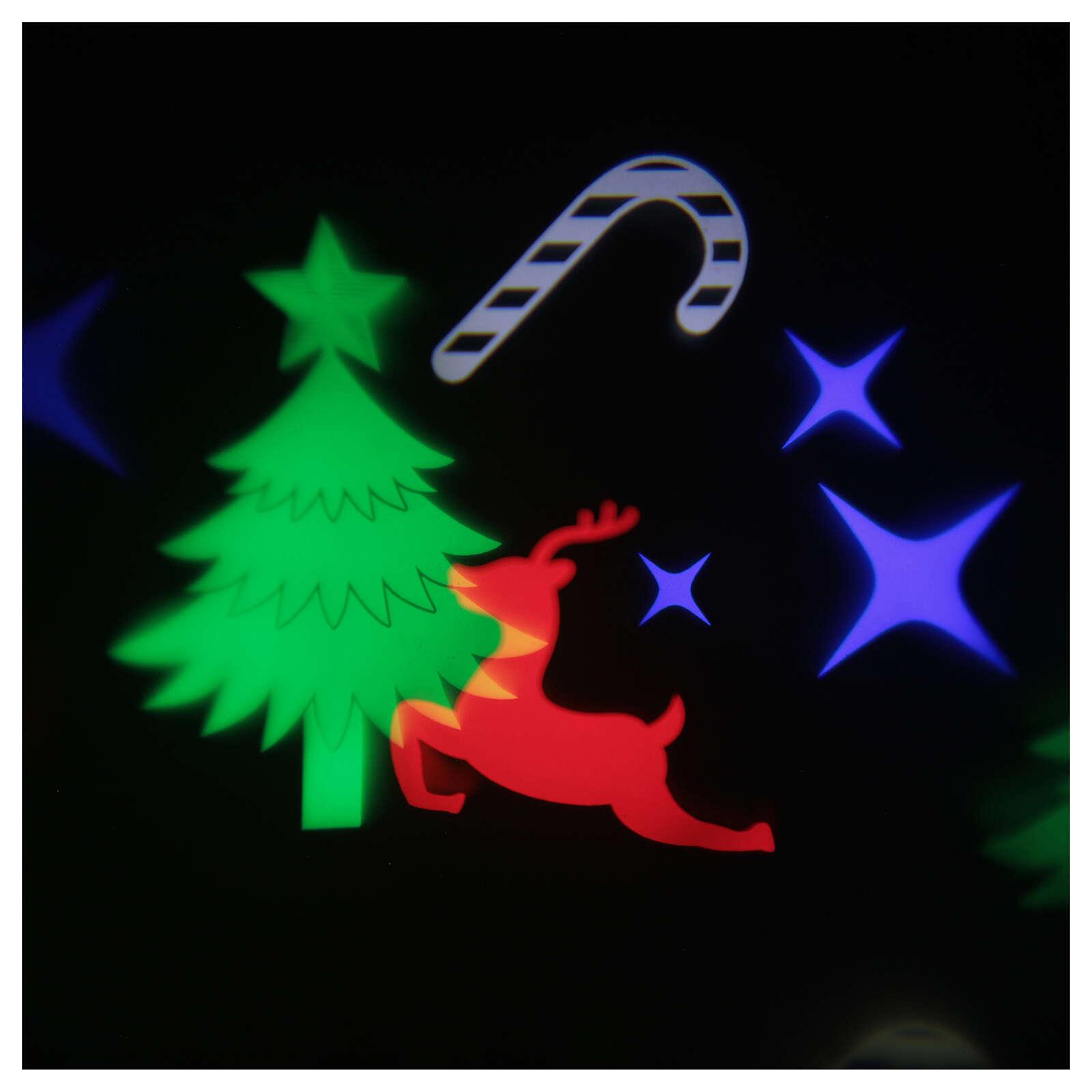 STOCK Proyector led imágenes navideñas multicolores con adaptador 4