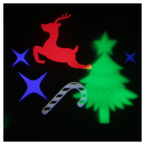 STOCK Proyector led imágenes navideñas multicolores con adaptador 3