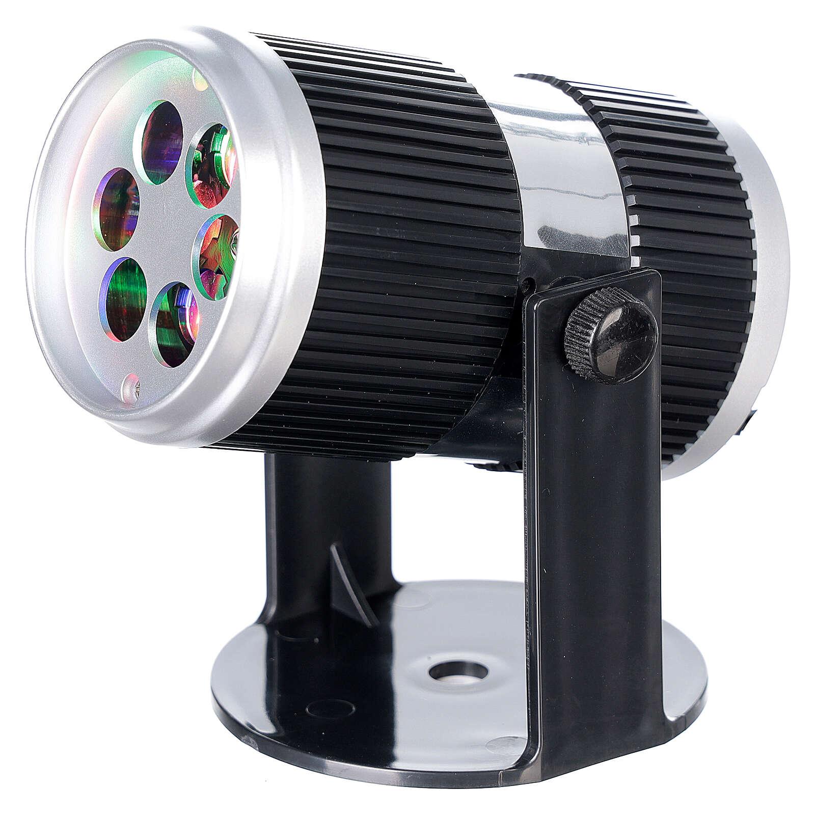 STOCK Projecteur LED images Noël multicolores avec adaptateur 3