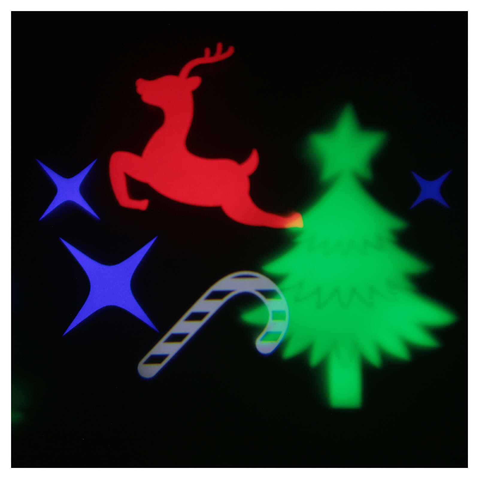 STOCK Proiettore led immagini natalizie multicolore con adattatore 3