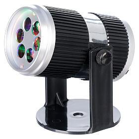 STOCK Proiettore led immagini natalizie multicolore con adattatore s2