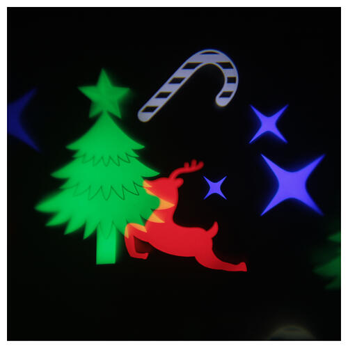STOCK Proiettore led immagini natalizie multicolore con adattatore 1