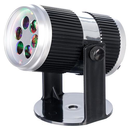 STOCK Proiettore led immagini natalizie multicolore con adattatore 2