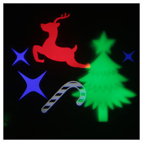 STOCK LED light projector multicolor Christmas images with adaptor s3