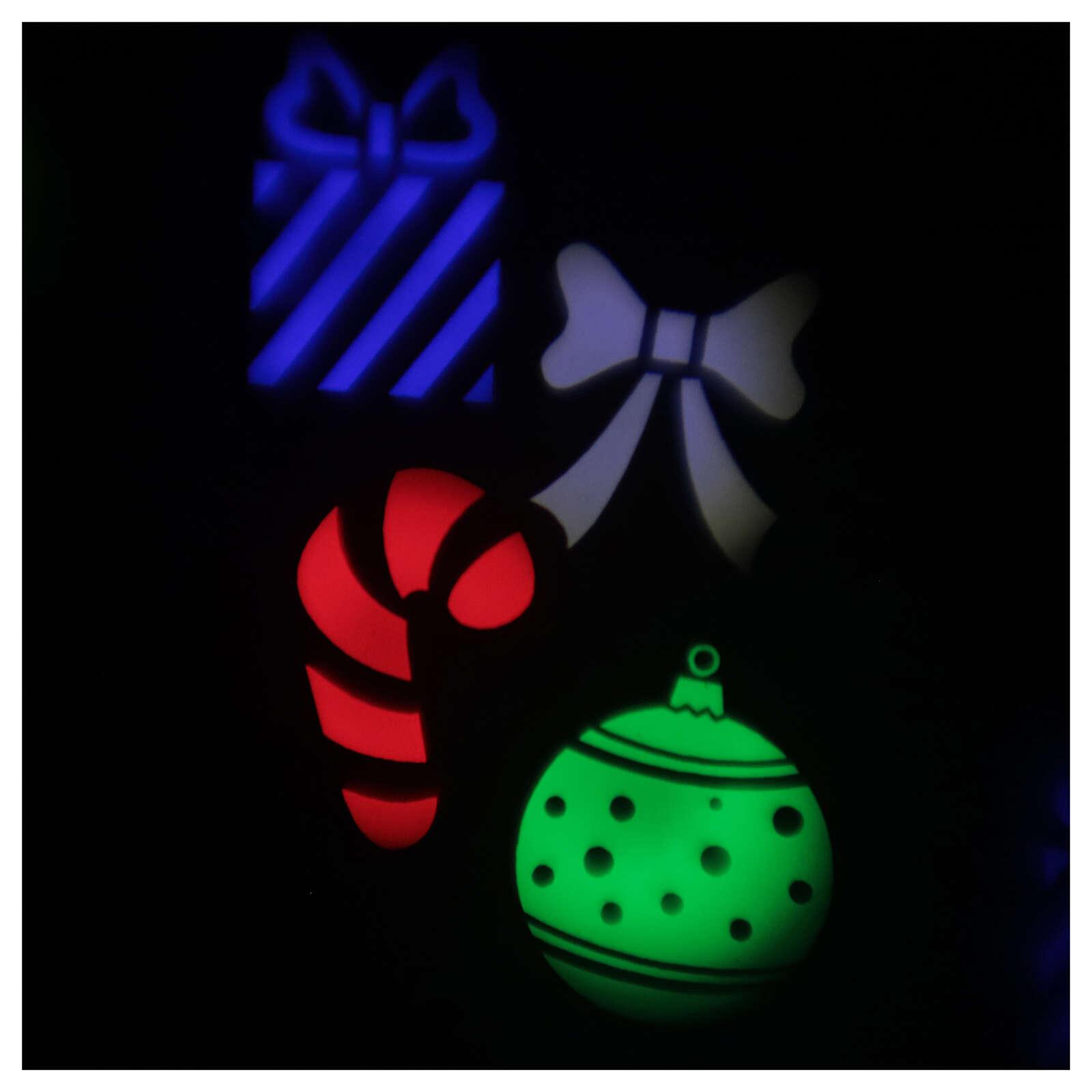 STOCK Proiettore LED Natale da esterni multicolore simboli natalizi 3