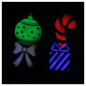 STOCK Proiettore LED Natale da esterni multicolore simboli natalizi s1